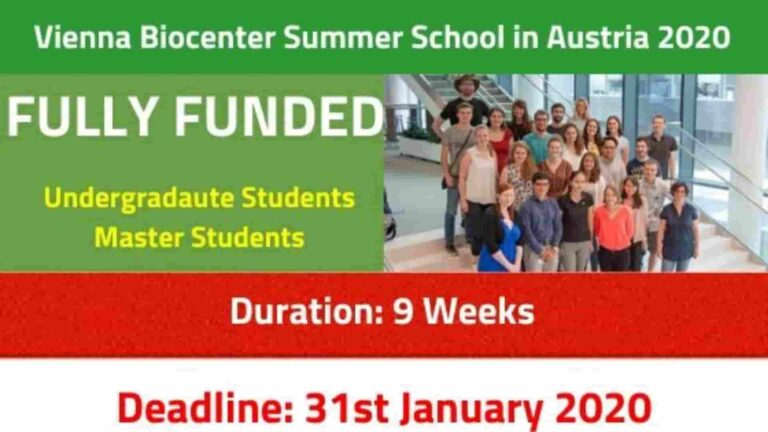 Vienna Biocenter Summer School 2021 Austria | Fully Funded