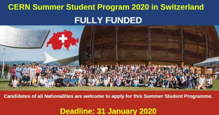 CERN Summer Student Program in Switzerland | Fully Funded