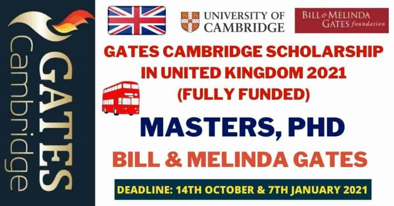Read more about the article Gates Cambridge Scholarship 2021 in the UK | Fully Funded