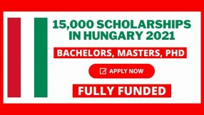 15,000 Scholarships in Hungary 2021 | Fully Funded