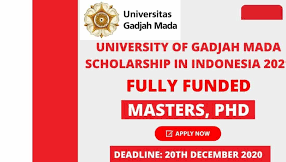 University of Gadjah Mada Scholarship in Indonesia 2021