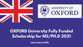 1200 Fully Funded Scholarships at OXFORD University 2021