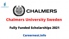 Scholarship at Chalmers University in Sweden 2021