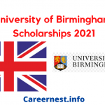 Scholarship at University of Birmingham in the UK