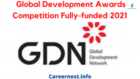 Global Development Awards Competition Fully-funded 2021