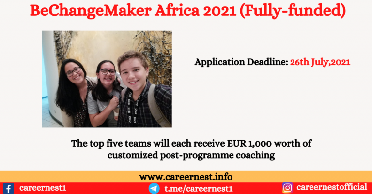 Read more about the article BeChangeMaker Africa 2021 Fully Funded Scholarship